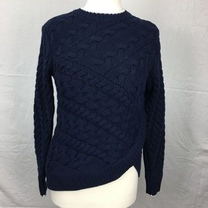 Ted Baker Navy Charo Cable Knit Wrap Sweater
